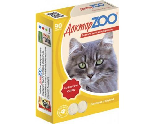 Доктор ZOO витамины для кошек со вкусом Сыра 90 таб
