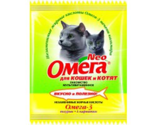 Омега Neo для кошек и котят Таурин/L-карнитин 15 таб саше (Витаминно-минеральный комплекс)
