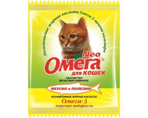 Омега Neo для кошек Морские водоросли 15 таб саше (Витаминно-минеральный комплекс)