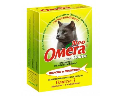 Омега Neo для кошек с Протеином и L-карнитином 90 таб (Витаминно-минеральный комплекс)