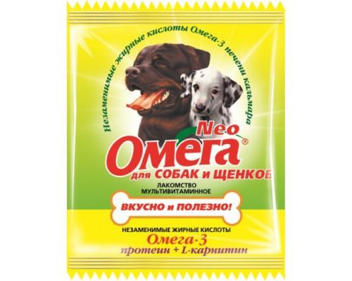 Омега Neo для щенков и собак Протеин/L-карнитин 15 таб саше (Витаминно-минеральный комплекс)