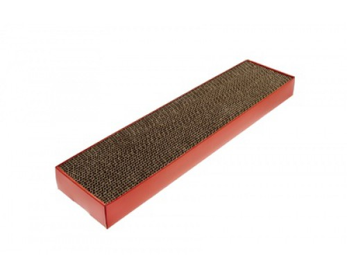 """Плоская картонная когтеточка """"Подиум"""" 48х12,5х5см (TIRAGRAFFI CARTONE)"""