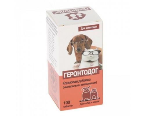 Подкормка ГЕРОНТОДОГ для стареющих собак 100 таб