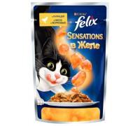 Феликс Sensations для кошек кусочки в желе курица, морковь (Felix). Вес: 85 г
