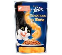 Феликс Sensations для кошек кусочки в желе лосось, треска (Felix). Вес: 85 г