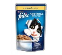 Феликс Аппетитные кусочки для кошек в желе курица (Felix)