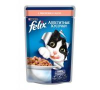 Феликс Аппетитные кусочки для кошек в желе лосось (Felix). Вес: 85 г