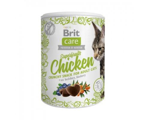 Brit Care Superfruits Chicken лакомство для взрослых кошек Суперфрукты с курицей. Вес: 100 г