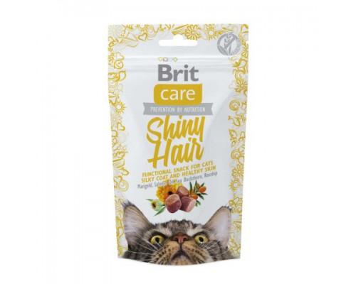 Brit Care лакомство для кошек Shiny Hair для блестящей шерсти. Вес: 50 г