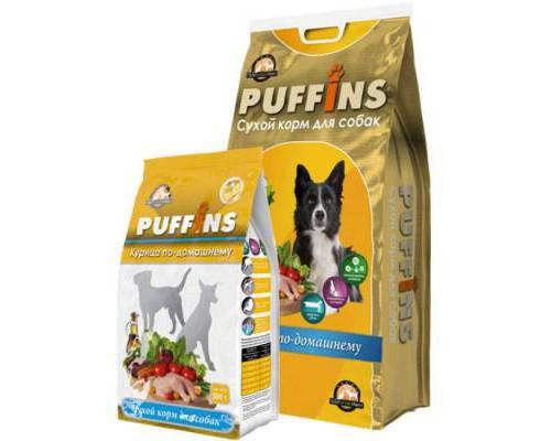 Puffins сухой корм для собак Курица по-домашнему. Вес: 500 г