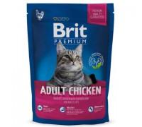 Brit Premium Cat Adult Chicken для взрослых кошек с Курицей и печенью. Вес: 800 г