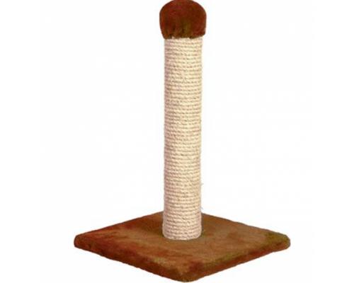 Зооник Когтеточка на подставке (однотонный мех) Коричневый 340х340х580
