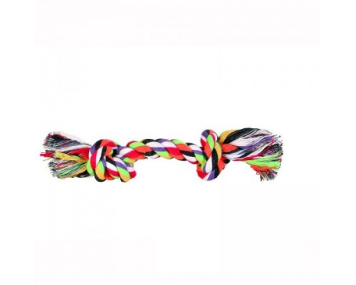 """TRIXIE 3272 Игрушка для собак """"Веревка с 2-мя узлами"""" цветная, хлопок 26см"""