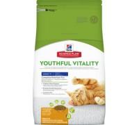 Hills Science Plan Youthful Vitality Adult 7+ сухой корм для пожилых кошек Курица (Хиллс). Вес: 300 г
