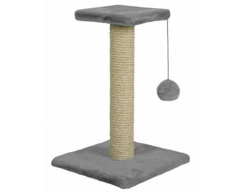 ЗООНИК Когтеточка на подставке (однотонный мех) Серый 340х340х580