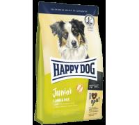 Happy Dog Junior Lamb / Rice для юниоров средних и крупных пород с 7 до 18 месяцев с чувствительным пищеварением Ягненок. Вес: 1 кг