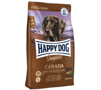 Happy Dog Canada для взрослых собак с повышенными потребностями в энергии и для чувствительных к корму собак. Лосось/Кролик/Ягненок. Вес: 12,5 кг