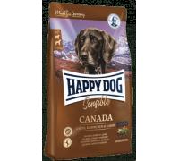 Happy Dog Canada для взрослых собак с повышенными потребностями в энергии и для чувствительных к корму собак. Лосось/Кролик/Ягненок. Вес: 1 кг