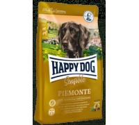 Happy Dog Piemonte для взрослых собак при пищевой аллергии и кормовой непереносимости. Утка/Морская рыба/Каштаны. Вес: 1 кг