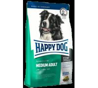 Happy Dog Medium Adult для взрослых собак средних пород. Птица/Лосось/Ягненок. Вес: 1 кг