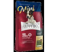 Happy Dog Mini Africa для взрослых собак мелких пород при пищевой аллергии. Страус/Картофель. Вес: 1 кг