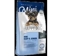 Happy Dog Mini Baby / Junior для щенков и юниоров мелких пород. Птица/Лосось. Вес: 1 кг