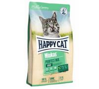 Happy Cat Minkas Perfect Mix сухой корм для взрослых кошек /птица/рыба/ягненок/. Вес: 500 г