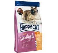 Happy Cat Supreme Fit&Well Sterilised для кошек аталантический лосось. Вес: 300 г