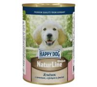 Happy Dog консервы Аппетитный Ягненок с печень, сердцем и рисом. Вес: 400 г