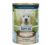 Happy Dog консервы Телятина с печенью, сердцем и рисом. Вес: 400 г