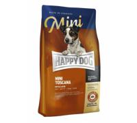 Happy Dog Mini Toscana для взрослых собак мелких пород со сниженными потребностями в энергии, кастрированным, пожилым, собакам с избыточным весом и аллергикам. Утка/Лосось. Вес: 300 г