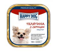 Happy Dog Телятина с сердцем паштет. Вес: 100 г