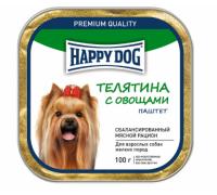 Happy Dog Телятина с овощами паштет. Вес: 100 г