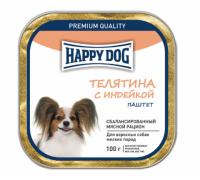 Happy Dog Телятина с индейкой паштет. Вес: 100 г