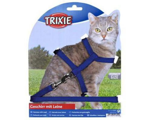 TRIXIE Шлейка с поводком для кошки, 22-42 см/10 мм