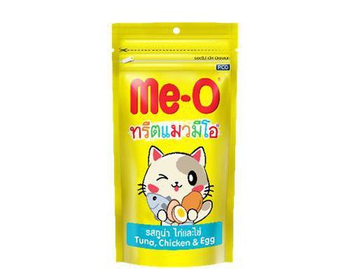 Me-O Лакомство зубочистки для кошек Тунец, Курица, Яйцо (контроль образ.зубного камня). Вес: 50 г