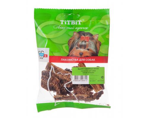 TiTBiT Вымя говяжье мини для собак, мягкая упаковка
