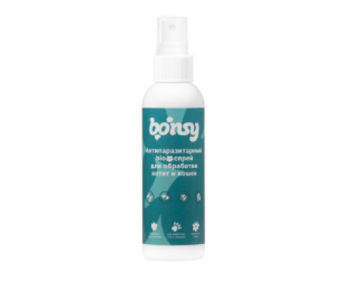 Bonsy Антипаразитарный БИОспрей для обработки котят и кошек, 150 мл
