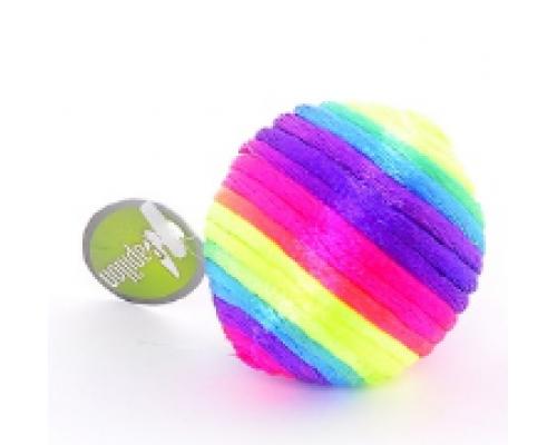 """Papillon Игрушка """"Радужный мячик"""" с погремушкой, текстиль 3,5 см (Rainbow ball)"""