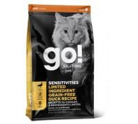 GO! Беззерновой для котят и кошек с чувствительным пищеварением со свежей уткой (SENSITIVITIES Limited Ingredient Grain FreeDuck Recipe CF 31/15). Вес: 1,36 кг