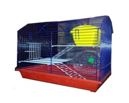 Клетка для грызунов полукруглая 2-х этажная 24х29х36 (Зоомарк)