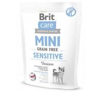 Brit Care MINI GF Sensitive беззерновой корм для собак мини пород с чувствительным пищеварением. Вес: 400 г