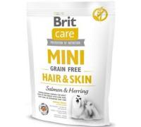 Brit Care MINI GF Hair&Skin беззерновой корм для собак мини пород с шерстью, требующей ухода. Вес: 400 г