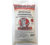 """ПУШИСТИК наполнитель древесный """"Социальный"""", : 5 л"""