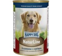 """Happy Dog консервы """"Natur Line"""", телятина с сердцем. Вес: 400 г"""
