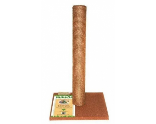 Homecat Когтеточка-столбик для кошек МАКСИ 41х41х63см цвет коричневый джут и ковролин