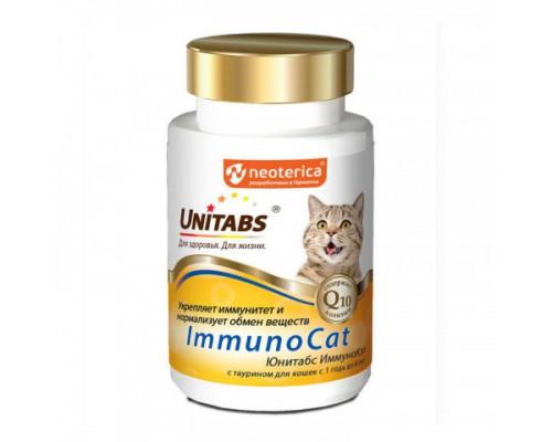 UNITABS ImmunoCat с Q10 Витамины для кошек с Таурином 120 таб
