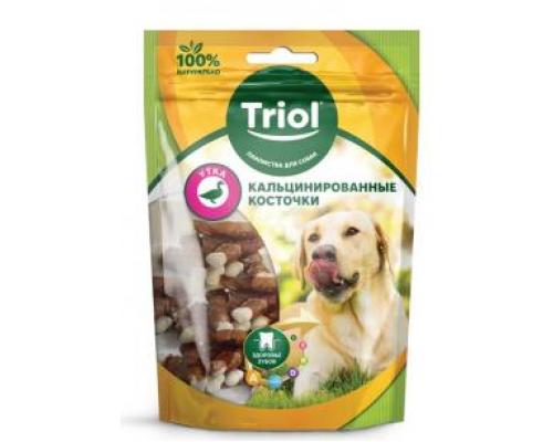 TRIOL Кальцинированная Косточка с уткой для собак Вес: 70 г