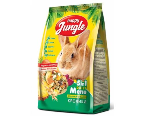 HAPPY JUNGLE Корм для кроликов. Вес: 400 г