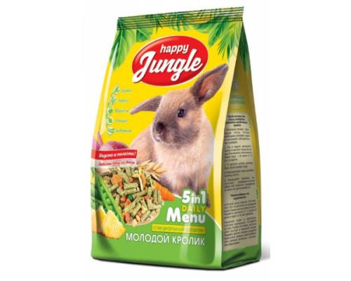 HAPPY JUNGLE Корм для молодых кроликов. Вес: 400 г